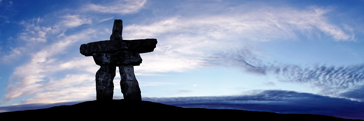 Nunavut「XXXL inukshuk twilight silhouette」:スマホ壁紙(19)