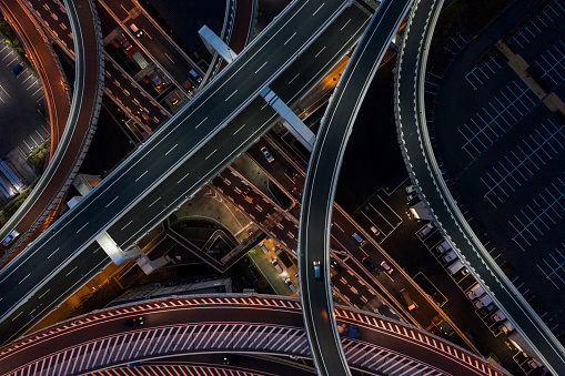 Effort「Night photograph of complicated intersecting highway.」:スマホ壁紙(10)