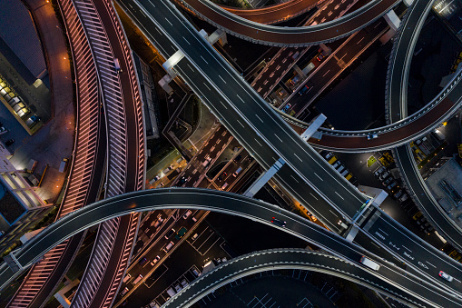 In A Row「Night photograph of complicated intersecting highway.」:スマホ壁紙(11)