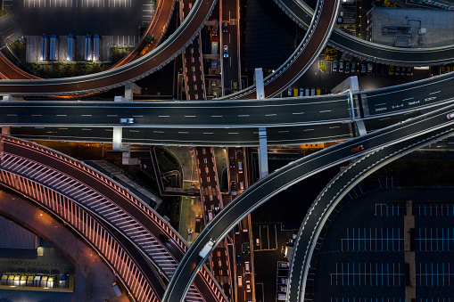 Effort「Night photograph of complicated intersecting highway.」:スマホ壁紙(14)