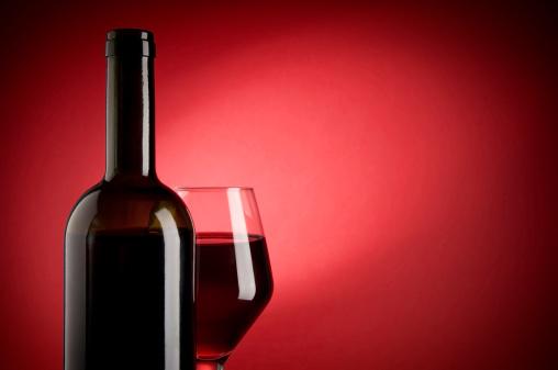 バレンタイン「レッドワイン」:スマホ壁紙(10)