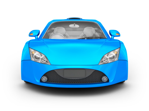 Clip Art「blue supercar」:スマホ壁紙(1)