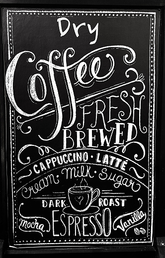 Chalk - Art Equipment「Coffee menu on blackboard」:スマホ壁紙(17)