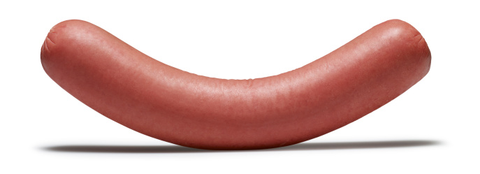 Sausage「Sausage(isolated with clipping path over white background)」:スマホ壁紙(0)