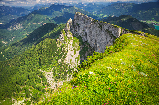 Salzkammergut「Austria, Salzburg State, Salzkammergut, View from Schafberg」:スマホ壁紙(6)