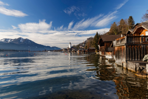 Salzkammergut「Austria, Salzburg State, Salzkammergut, St. Wolfgang at Lake Wolfgangsee」:スマホ壁紙(0)