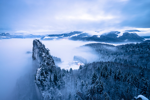 Dachstein Mountains「Austria, Salzburg State, Hallein, Berchtesgaden Alps, Small Barmstein」:スマホ壁紙(19)
