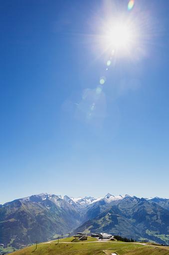 Sunlight「Austria, Salzburg State, mountain panorama from Schmittenhoehe」:スマホ壁紙(13)