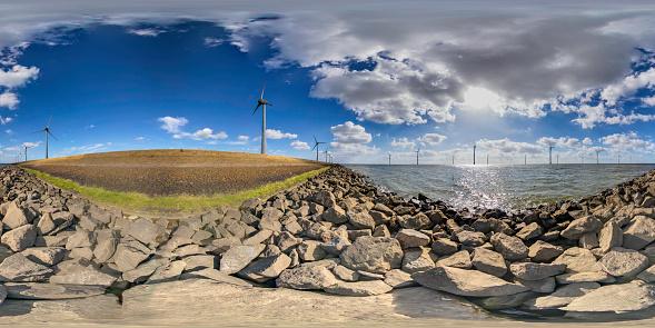 Generator「power generating wind turbines (360 degree panorama)」:スマホ壁紙(16)