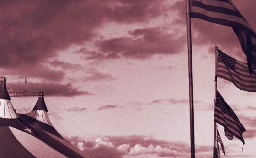 Circus Tent「American Circus - flags and coudscape. Symbolisms」:スマホ壁紙(5)