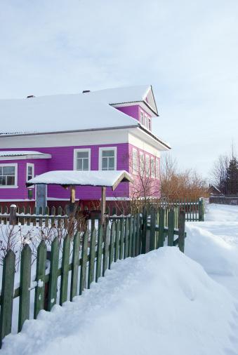 Snowdrift「winter russian village」:スマホ壁紙(8)