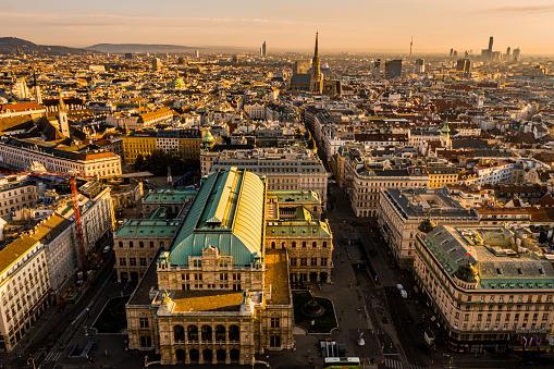 Austrian Culture「View of Vienna in the sunrise, Austria」:スマホ壁紙(12)