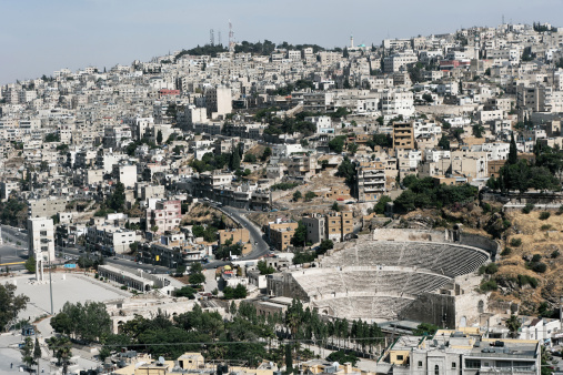 The Oval Piazza「Roman amphitheater, Amman, Jordan, Middle East」:スマホ壁紙(5)