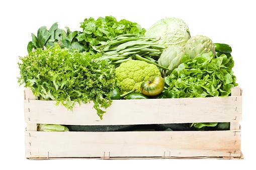 Leaf Vegetable「A box full of various green vegetables 」:スマホ壁紙(15)