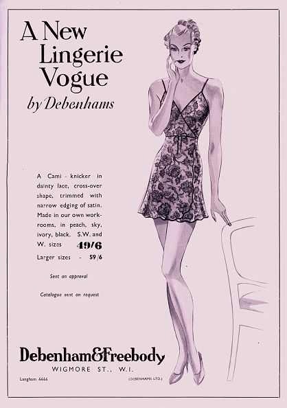 Cross Shape「Debenham and Freebody (Debenhams) Lingerie Advertisement in a 1937 magazine」:写真・画像(19)[壁紙.com]