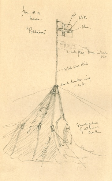 Ski Pole「Amundsens Tent At The South Pole 1」:写真・画像(2)[壁紙.com]
