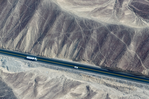 Archaeology「Peru, Nazca, Aerial view of geoglyphs of Nazca, Carretera Panamericana Sur」:スマホ壁紙(11)