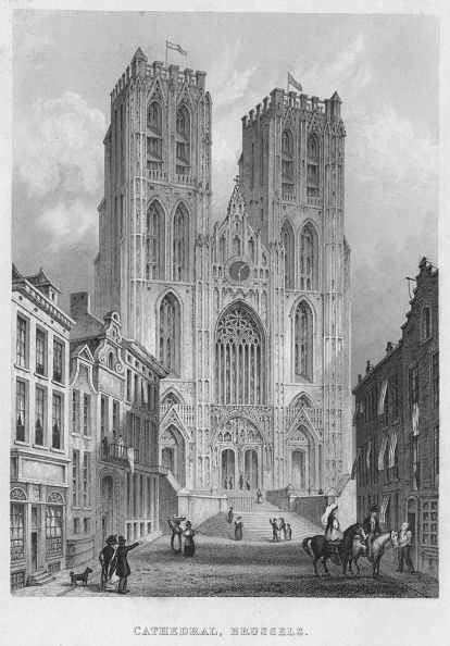 Townhouse「Cathedral, Brussels, 1850」:写真・画像(13)[壁紙.com]