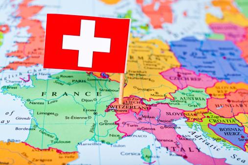 Switzerland「Map and Flag of Switzerland」:スマホ壁紙(10)