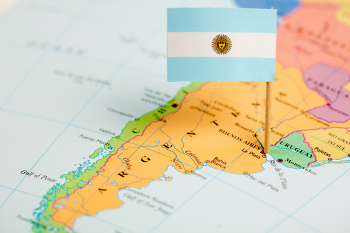 Buenos Aires「Map and Flag of Argentina」:スマホ壁紙(1)