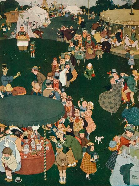 Waiting In Line「The Fair Day, c19th century, (1925). Artist: W Heath Robinson」:写真・画像(19)[壁紙.com]