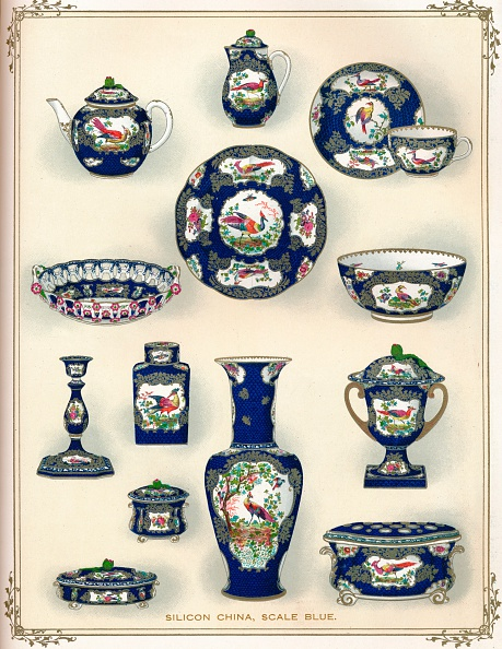 Crockery「Silicon China, Scale Blue, early 20th century. (1911).」:写真・画像(18)[壁紙.com]