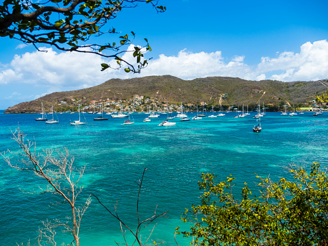 Saint Vincent And The Grenadines「Caribbean, St. Vincent And The Grenadines, Bequia, bay of Port Elisabeth with sailing ships」:スマホ壁紙(19)