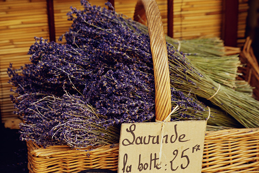 French Lavender「Basket of Lavender Flowers」:スマホ壁紙(8)