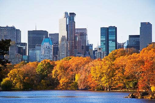 Central Park - Manhattan「Lake and high-rise buildings」:スマホ壁紙(19)
