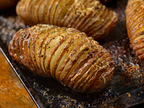 Baked Hasselback Potatoes:スマホ壁紙(壁紙.com)