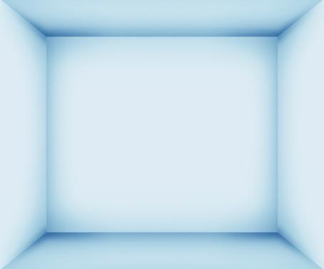 Copy Space「XXXL Blue empty room interior」:スマホ壁紙(5)