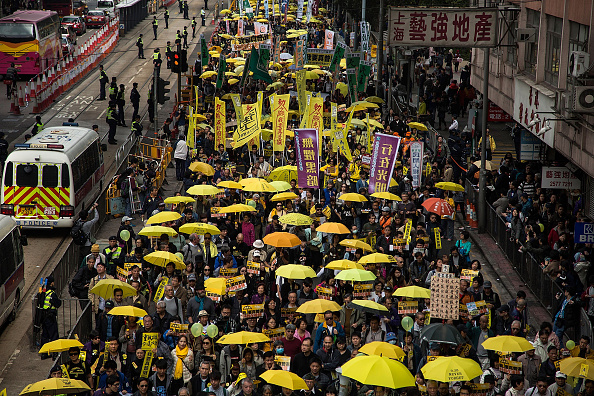 民主主義「Pro Democracy Supporters Stage A Rally In Hong Kong」:写真・画像(2)[壁紙.com]