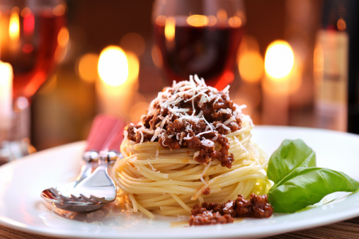 Table For Two「Spaghetti bolognese with parmesan cheese」:スマホ壁紙(4)