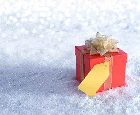 Gift「Gift Box in the Snow」:スマホ壁紙(6)