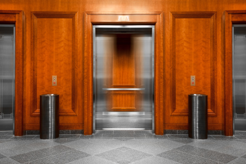 Push Button「Elevator in a modern office building」:スマホ壁紙(1)