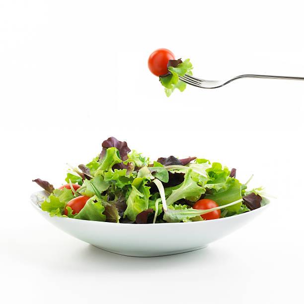 plate of Salad with fork:スマホ壁紙(壁紙.com)