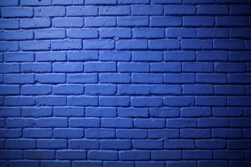 Brick Wall「Painted Blue Brick Wall Background」:スマホ壁紙(2)