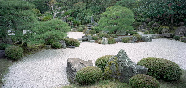 Kyoto City「Japanese rock garden, Yuzen'en, Kyoto, Japan」:スマホ壁紙(8)