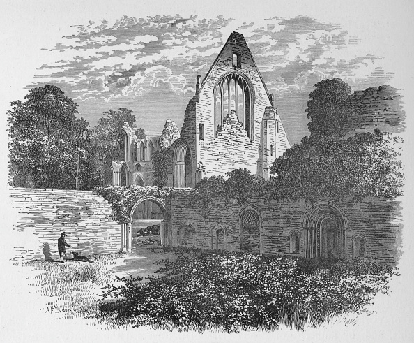 Overgrown「'From the Cloister Court', Dryburgh Abbey, c1880, (1897)」:写真・画像(11)[壁紙.com]