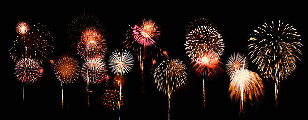 Fantastic and colorful fireworks display:スマホ壁紙(壁紙.com)