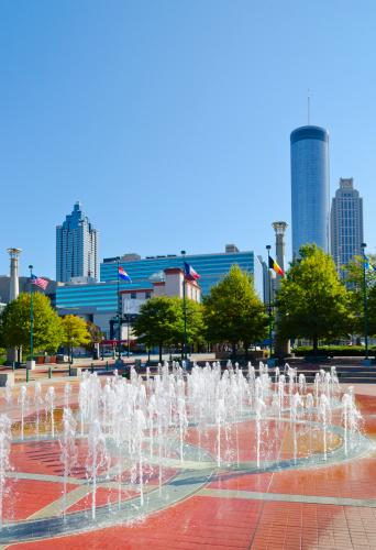 Drinking Fountain「USA, Georgia, Atlanta, View of Cenntinial Park」:スマホ壁紙(13)