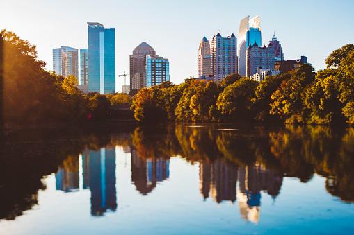Downtown District「USA, Georgia, Atlanta, Piedmont Park, Tilt-Shifted」:スマホ壁紙(19)
