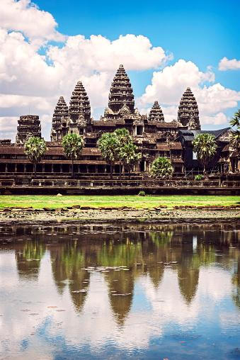 Cambodian Culture「Cambodia, Siem Reap, Angkor Wat Temple」:スマホ壁紙(9)