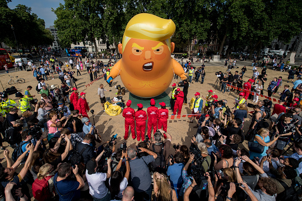 Visit「Protests Against Donald Trump's Visit Take Place Across The UK」:写真・画像(6)[壁紙.com]