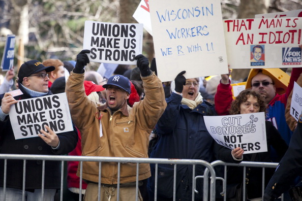 Michael Nagle「Rally Held To Stand In Solidarity With Union Workers Across The Country」:写真・画像(4)[壁紙.com]