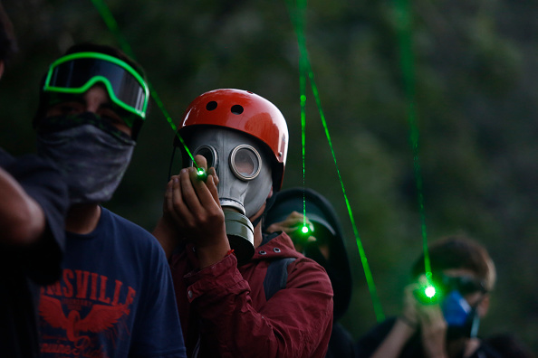 Lighting Equipment「Ongoing Protests Force Social Reforms In Chile」:写真・画像(17)[壁紙.com]