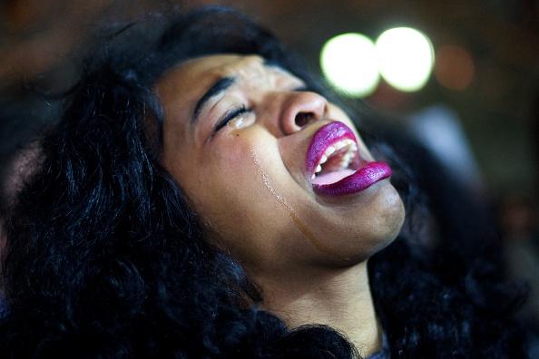 One Person「Demonstrators Gather In Philadelphia To Protest Eric Garner Grand Jury Decision」:写真・画像(15)[壁紙.com]