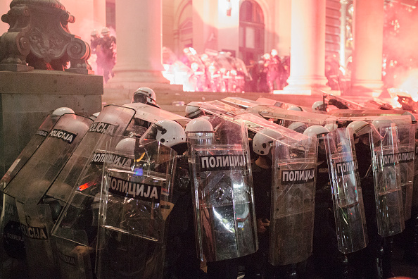 Belgrade - Serbia「Serbia Backtracks On Covid-19 Curfew Following Protests」:写真・画像(2)[壁紙.com]