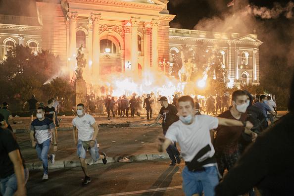 Belgrade - Serbia「Serbia Backtracks On Covid-19 Curfew Following Protests」:写真・画像(0)[壁紙.com]