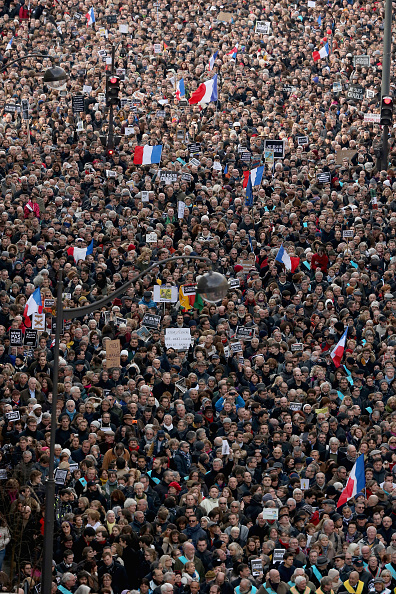 Boulevard Voltaire「Mass Unity Rally Held In Paris Following Recent Terrorist Attacks」:写真・画像(5)[壁紙.com]